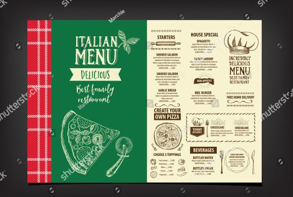 Vector Italian Restaurant Menu Design