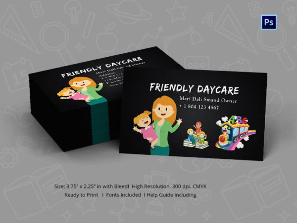 Cool Childcare Business Card Template