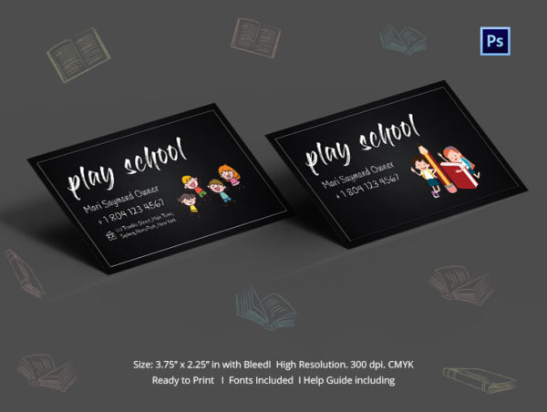 play school business card