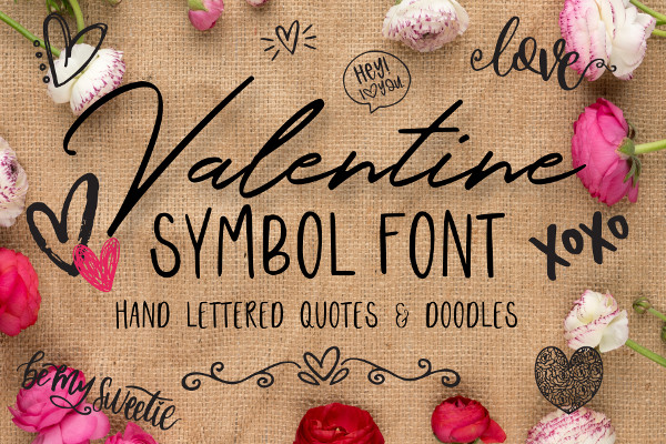 Valentine Themed Symbols Font