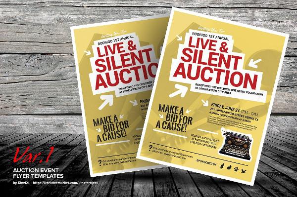 Auction Event Flyer Templates