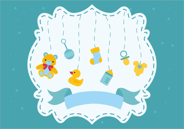 Baby Shower Greeting Card Free Download