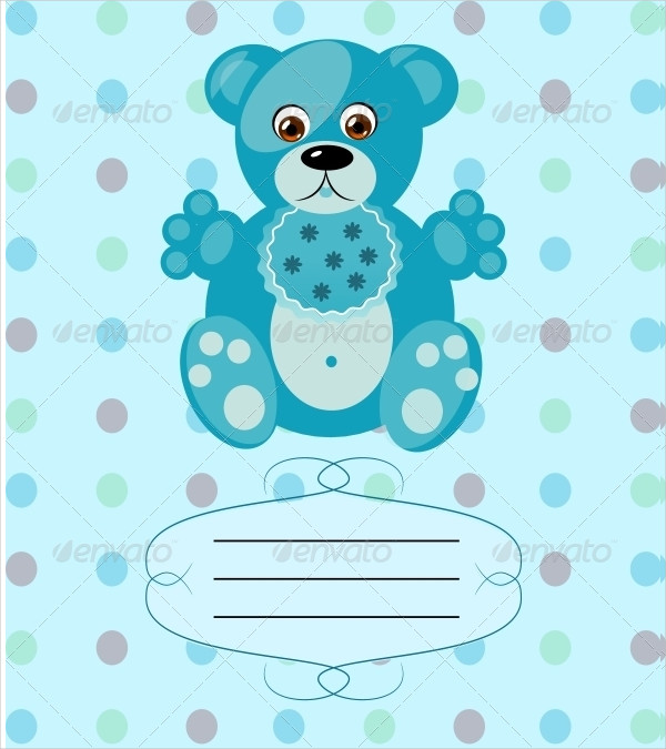 Baby Boy Greeting Card Template