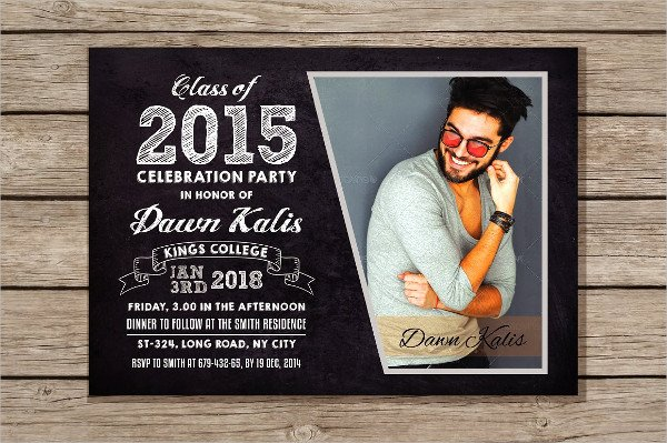 Clean College Invitation Design Template