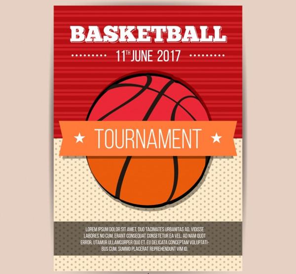 Retro Basketball Brochure Free Download