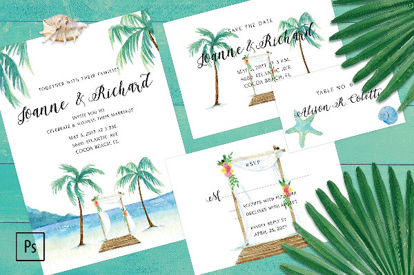 Beach Wedding Greeting Cards