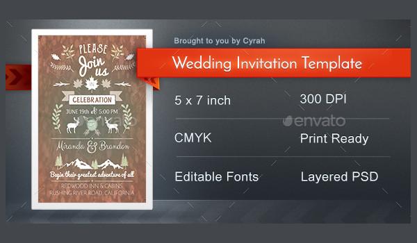 Editable Creative Wedding Invitation Template
