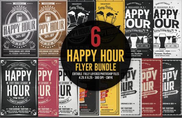 Best Happy Hour Flyers Bundle