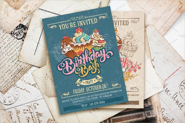 Birthday Bash Invitation Template