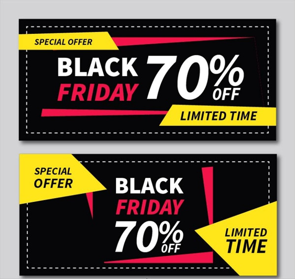 Black Friday Banners With Geometric Shapes