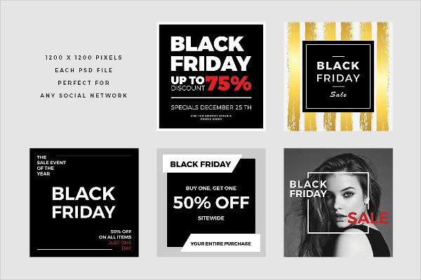 Creative Black Friday Social Media Banners Pack