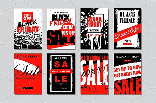 Set of Black Friday Banners Templates