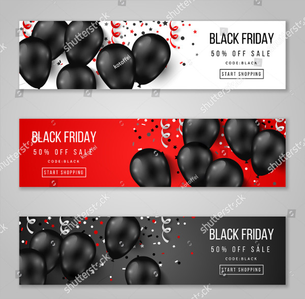 Black Friday Opening Banners Vector