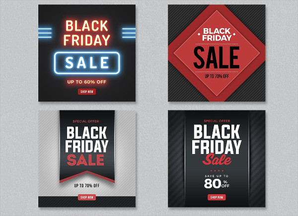 Black Friday Fashion Sale Banners