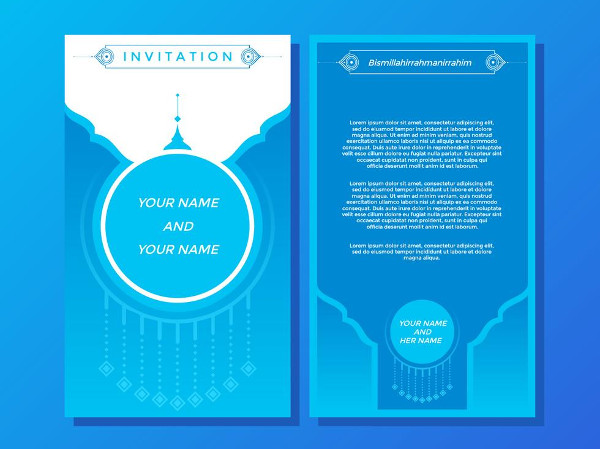 Blue Elegance Invitation Template Free