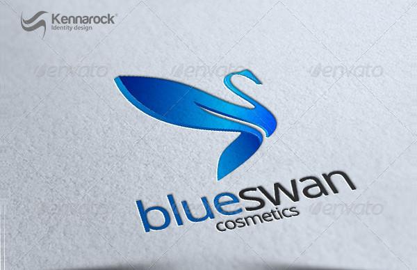 Blue Swan Logo Template
