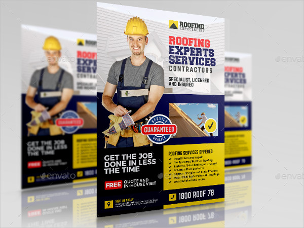 Roofing Experts Services Flyer Template