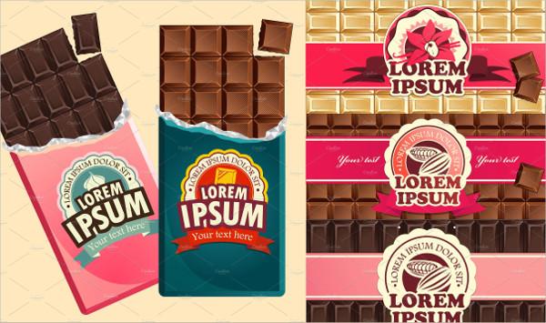 Set of Dark and Milk Chocolate Packaging Mockup