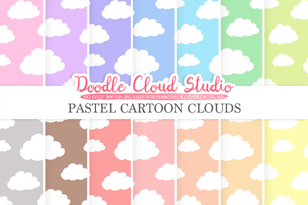 Cartoon Cloud Doodle Patterns