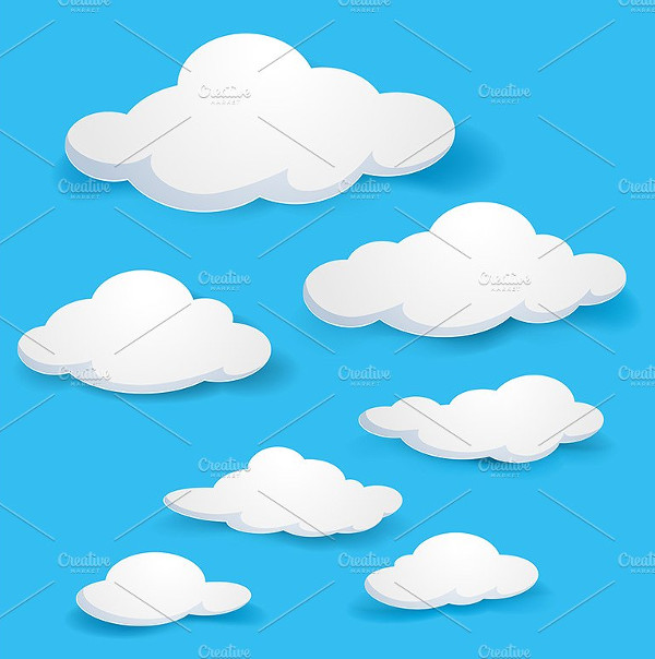 Cartoon Clouds Design Pattern