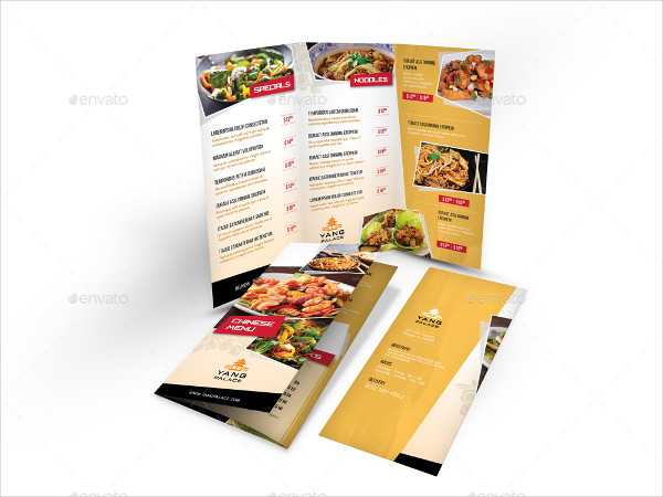 Chinese Restaurant Menu Print Bundle