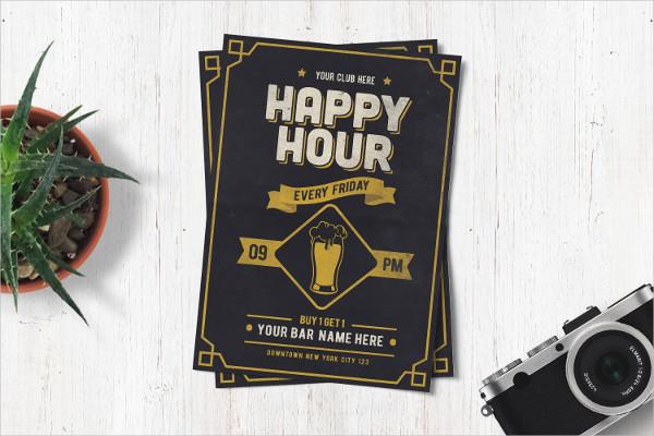 Classic Happy Hour Drinks Flyer