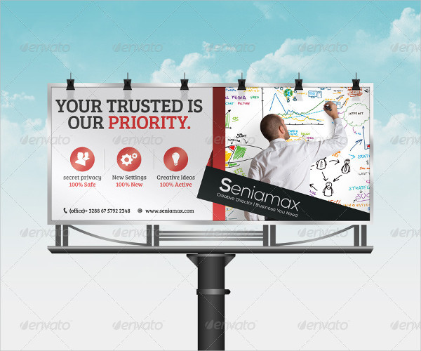 Clean Corporate Billboard Template