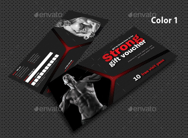 Clean Sport Activity Gift Voucher Design