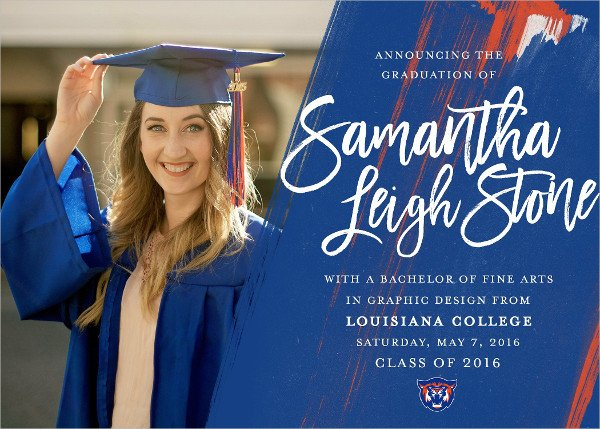 Printable College Graduation Invitation Template
