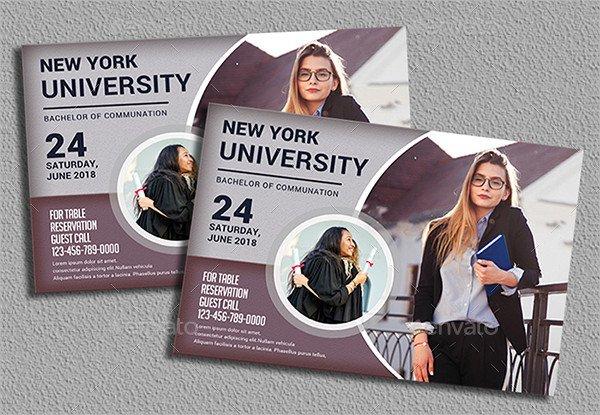 Creative College Graduation Invitation Template