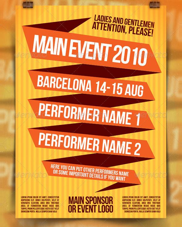 Colored Event Festival Poster Design