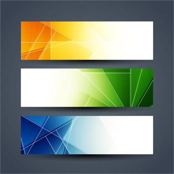 Colorful Abstract Technology Banners Set Free