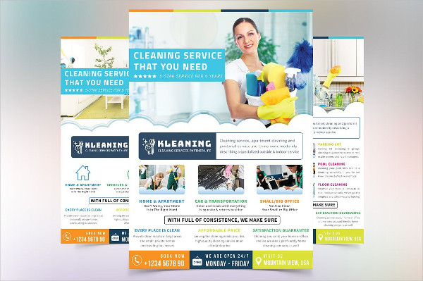Perfect Cleaning Service Flyer Template