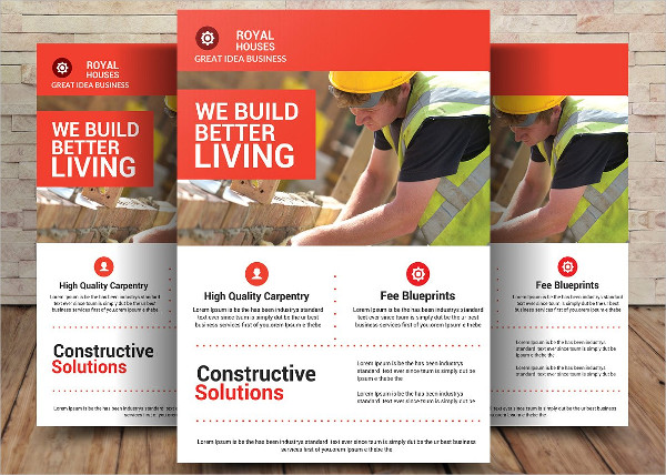 Great Contractor PSD Flyer Template