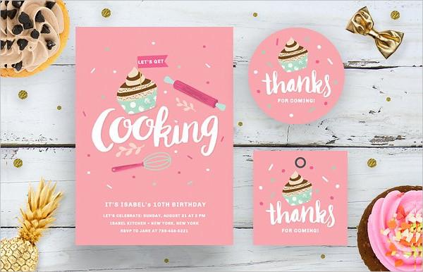 Cooking Birthday Invitation Bundle