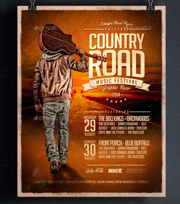 Country Road Music Festival Poster