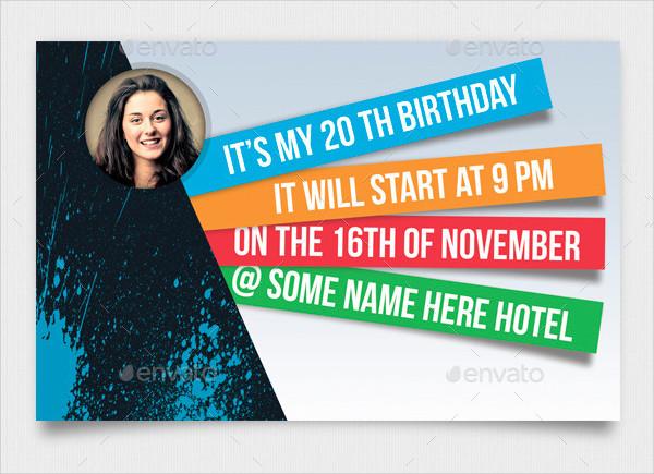 Creative Birth Day Invitation