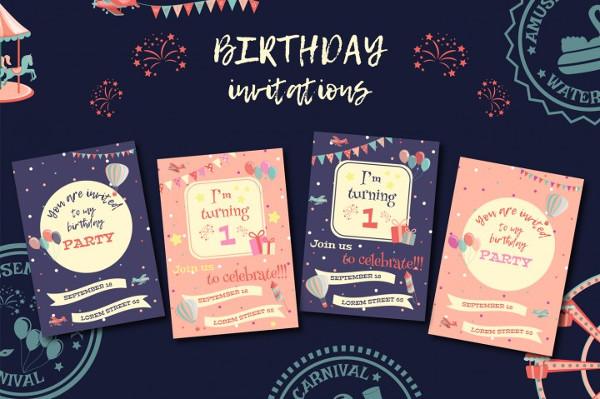 Creative invitations 25 free premium designs download creative birthday invitations filmwisefo