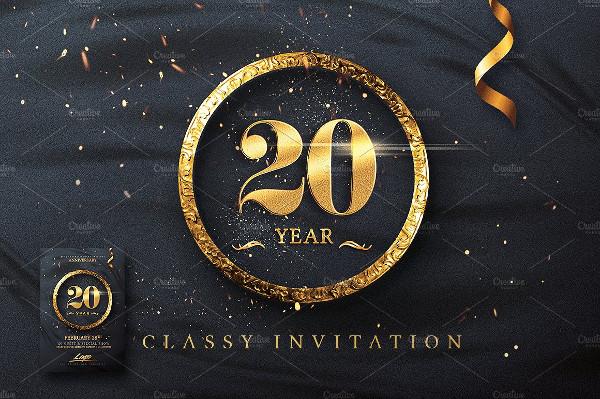 Creative Classy Birthday Invitation