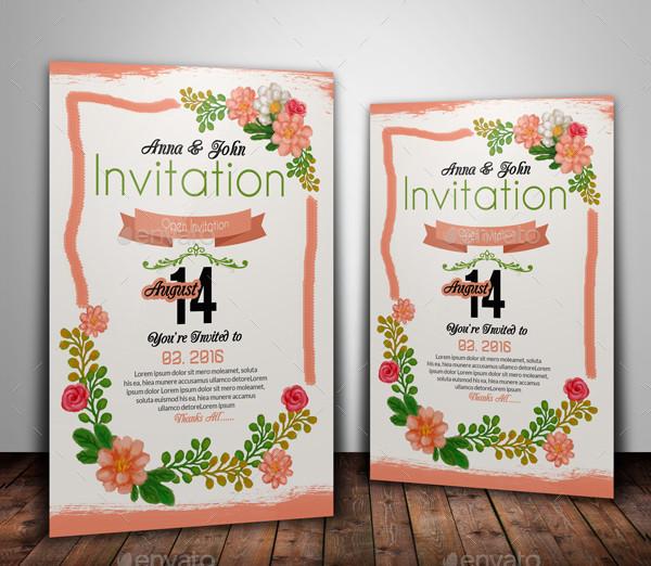 Creative Floral Invitation Card