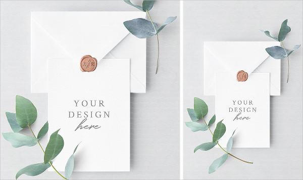 Creative Invitation Card Design & Envelope