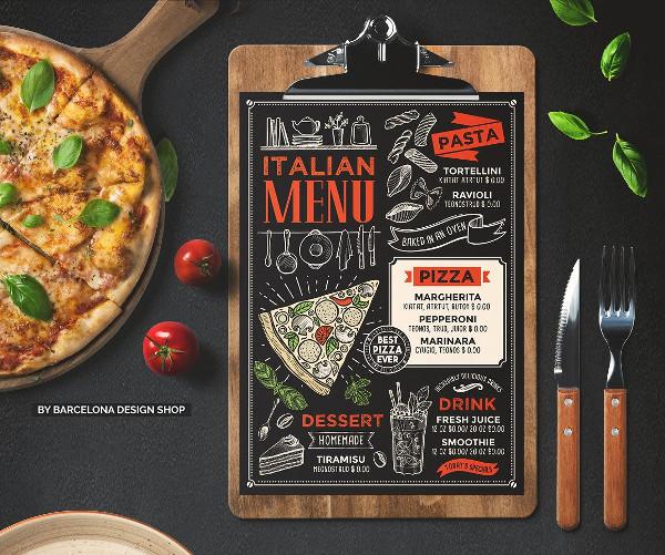 Creative Italian Food Menu Template