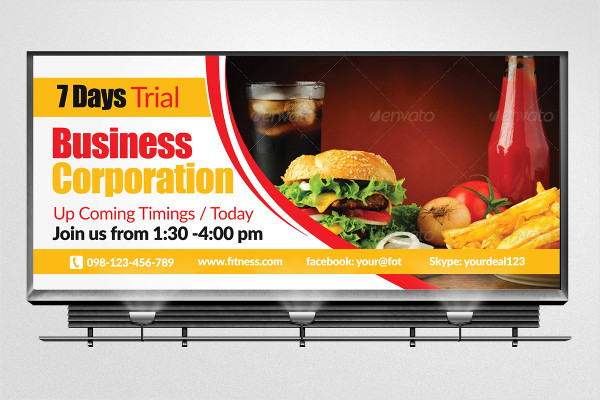 Creative Muti Business Billboard Template
