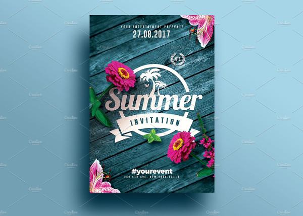 Creative Summer Invitations Flyer