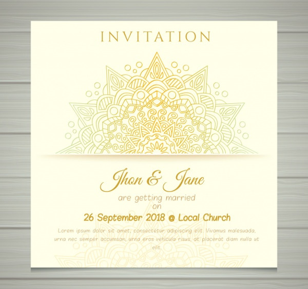 Creative Wedding Invitation Free Download