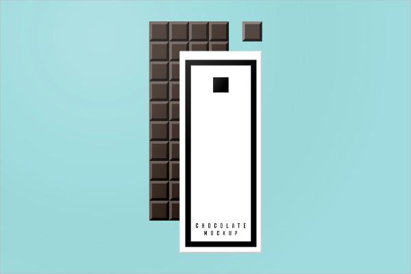Dark Chocolate Bar Wrapper Mockup