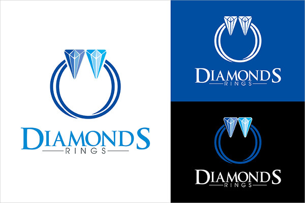 Diamonds Ring Logo Design