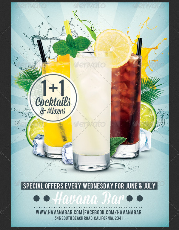 Drinks Promotion Advertising Flyer Template
