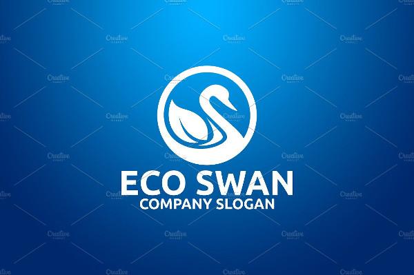 Eco Swan PSD Logo Template