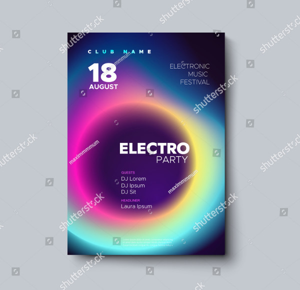 Electronic Music Festival Poster Design